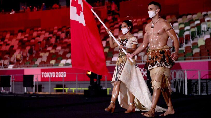 Wojownik z Tonga znów błyszczał na ceremonii