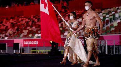 Słynny wojownik z Tonga znów błyszczał na ceremonii