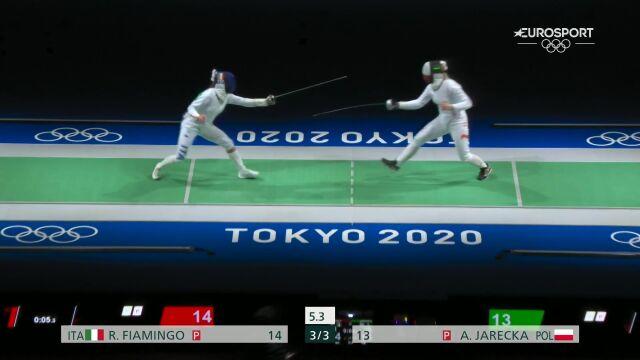 Tokio. Jarecka przegrała w 1/8 finału w szpadzie indywidualnej kobiet