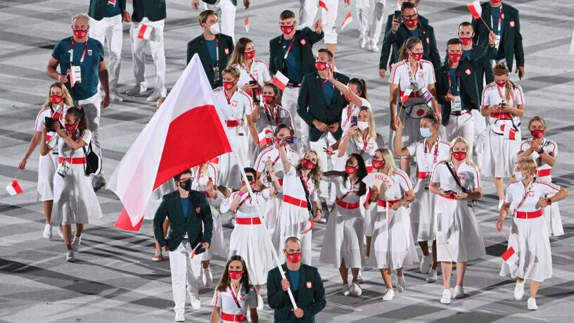 Reprezentacja Polski podczas ceremonii otwarcia igrzysk. Nagranie