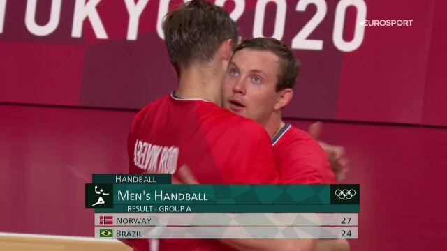 Tokio. Skrót meczu Norwegia - Brazylia w piłce ręcznej mężczyzn