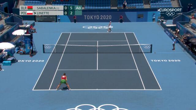 Tokio. Linette przegrała 1. seta w starciu z Sabalenką w 1. rundzie turnieju tenisowego