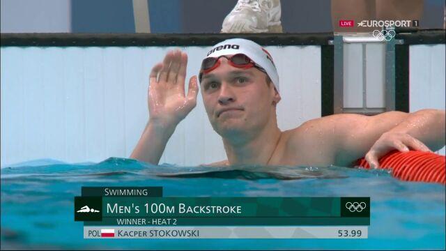 Tokio. Kacper Stokowski nie zakwalifikował się do półfinału 100m stylem grzbietowym