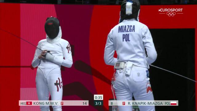 Tokio. Knapik-Miazga przegrała w 1/8 finału w szpadzie indywidualnej kobiet