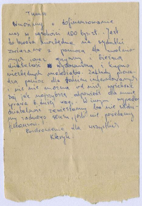 """List pisany do """"Tumora"""", czyli Pawła Falickiego z Solidarności Walczącej. Kto się krył pod pseudonimem """"Kleryk"""" nie udało się ustalić"""