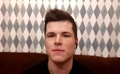 Mateusz Baranowski o stroju snookerzysty