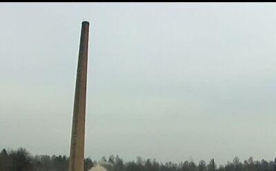 Wyburzanie starego komina