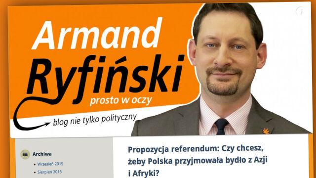 """""""Czy chcesz, żeby Polska przyjmowała bydło  z Azji i Afryki?"""" Armand Ryfiński o imigrantach"""