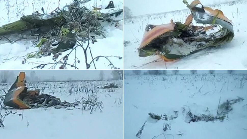 """""""Słup ognia, a potem iskry"""". Nikt nie przeżył katastrofy lotniczej pod Moskwą"""