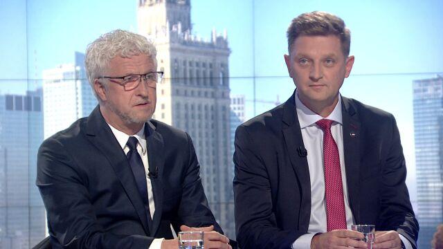 """Andrzej Rozenek i Jacek Wojciechowicz w """"Faktach po Faktach"""""""