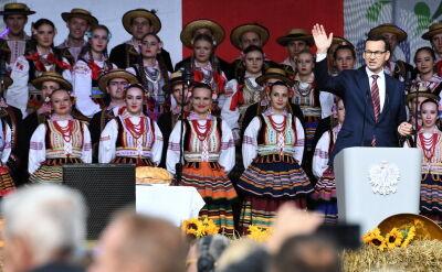 """Premier Morawiecki podczas święta """"Wdzięczni polskiej wsi"""""""