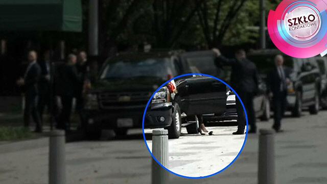 Agata Duda w Waszyngtonie. Zgubiony but przy wsiadaniu do auta