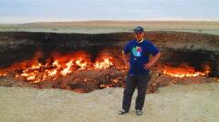 Tak zwane Wrota Piekieł w Turkmenistanie