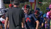 Protest kolarzy przed rozpoczęciem 11. etapu Vuelta a Espana