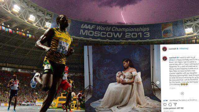 Usain Bolt pochwalił się zdjęciem córeczki. Ma imię godne przyszłej mistrzyni