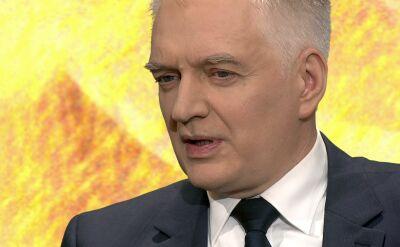 Jarosław Gowin o rekonstrukcji rządu
