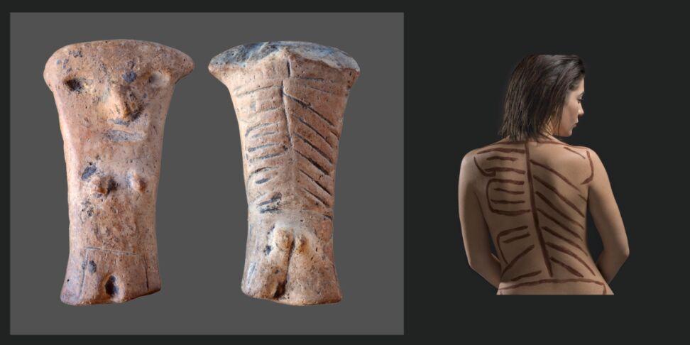 Neolityczna gliniana figurka kobiety, której wiek archeolodzy oceniają na ok. 7,5 tys. lat