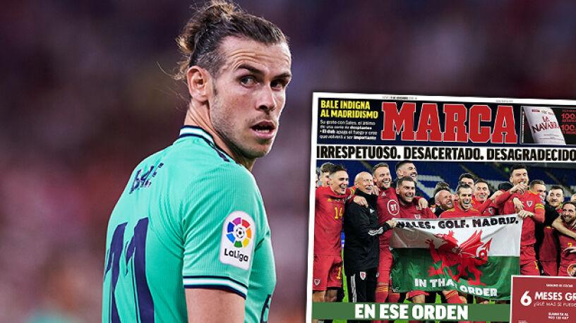 """""""Marca"""" atakuje Bale'a za prowokację. Real jest bardziej wyrozumiały"""