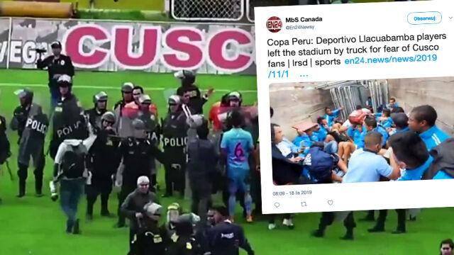 """Piłkarze musieli opuszczać stadion w ciężarówce do przewozu koni. """"Co za wstyd"""""""