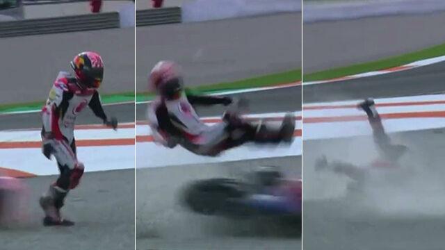 Spadł z motocykla, inny ściął go po chwili. Nieszczęśliwa seria wypadków na torze