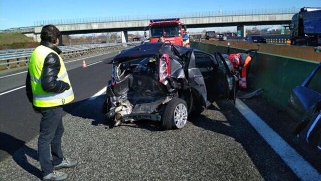 Piłkarz Juventusu uczestniczył w wypadku. Ranny kierowca drugiego auta