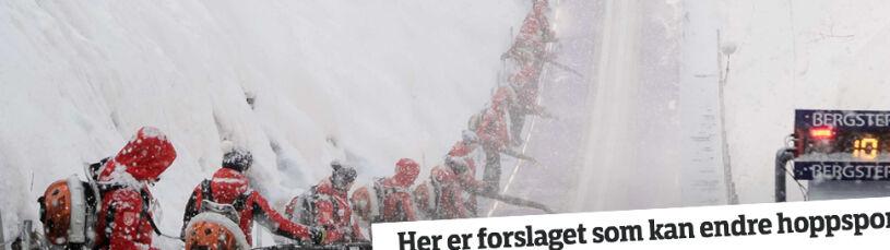 Norwegowie za zadaszeniem Wielkiej Krokwi.