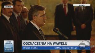 Prezydent podziękował twórcom zasłużonym dla kultury (TVN24)