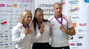 Brązowe lądowanie. Polscy medaliści wrócili z Londynu