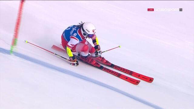 Maryna Gąsienica-Daniel w 1. przejeździe slalomu giganta w Kronplatz