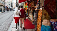 Turyści na ulicach Stambułu
