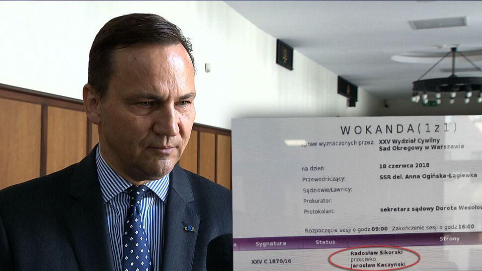 Sikorski pozwał Kaczyńskiego, sąd podał termin wyroku