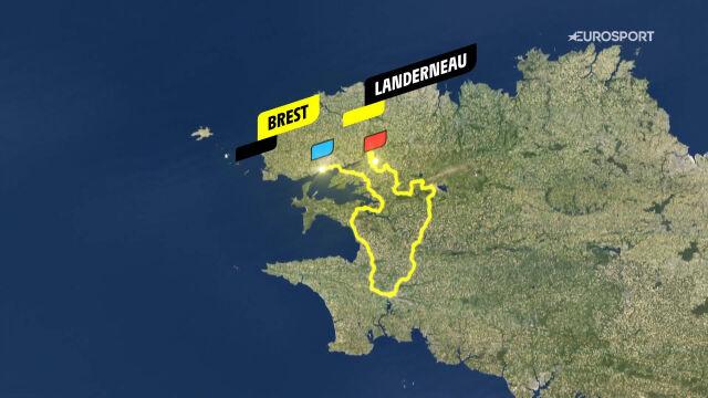 Trasa 1. etapu Tour de France 2021