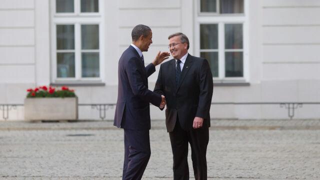 Przejazd Obamy do Pałacu