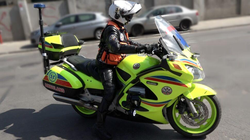 Ten motocykl to karetka