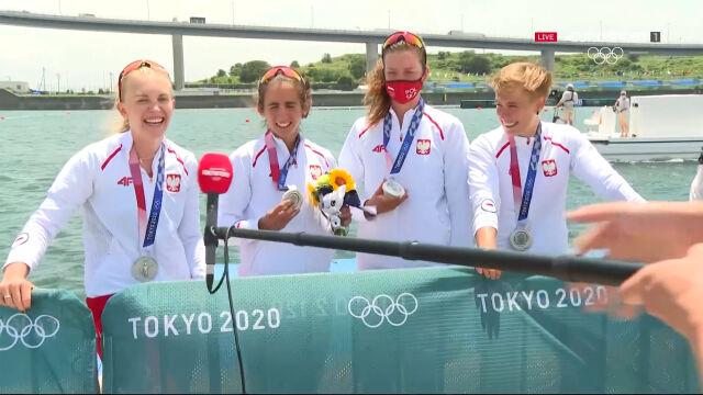 Tokio. Rozmowa ze srebrnymi medalistkami w rywalizacji czwórek podwójnych kobiet