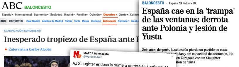 Hiszpania w szoku po porażce z Polską.