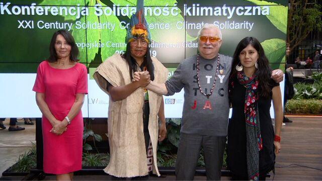 Konferencja klimatyczna i goście z Ekwadoru. Lech Wałęsa świętuje urodziny