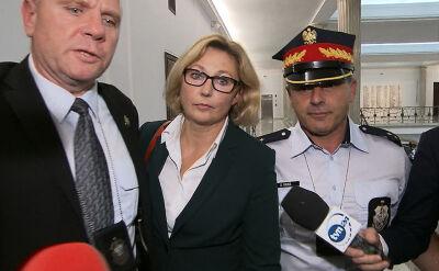 Małgorzata Motylow przed posiedzeniem sejmowej komisji