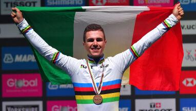 Włoch ze złotem wyścigu młodzieżowców. Ambitna walka Szymona Sajnoka