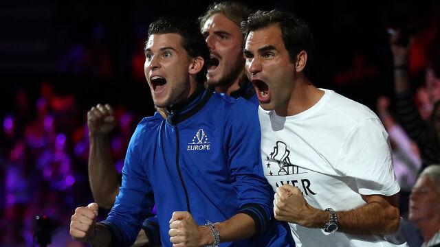 Żołnierskie słowa Federera na odprawie z młodszym kolegą z drużyny