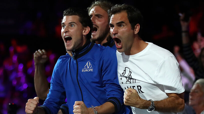 Żołnierskie słowa Rogera Federera na odprawie z młodszym kolegą z drużyny