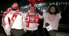 Kibice po meczu Polska - Ukraina