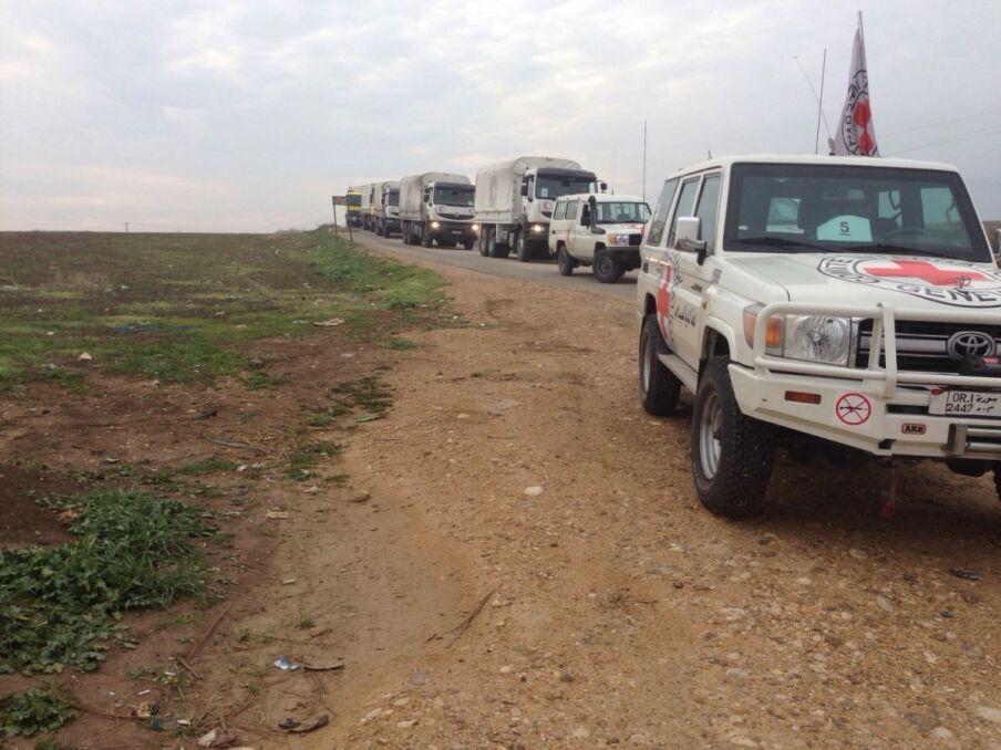 Konwój z pomocą humanitarną