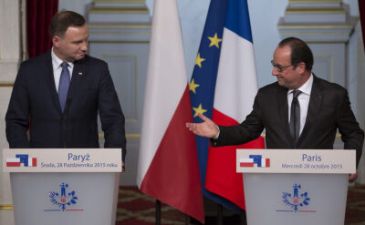 Prezydent Hollande po rozmowie z prezydentem Dudą