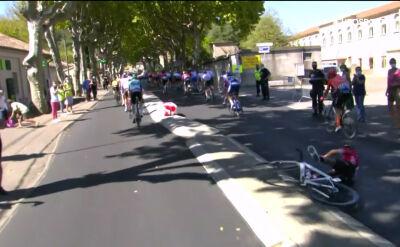 Upadek Dayera Quintany na 6. etapie Tour de France