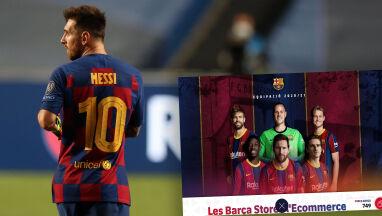 Barcelona zachęca do kupna koszulek. Na zdjęciu Messi