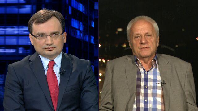 """Zbigniew Ziobro (SP) i Stefan Niesiołowski (PO) w """"Kropce nad i"""""""