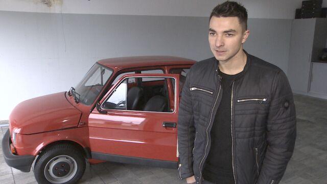Stał w garażu przykryty kocem. Maluch, który ma 27 lat i 22 kilometry na liczniku