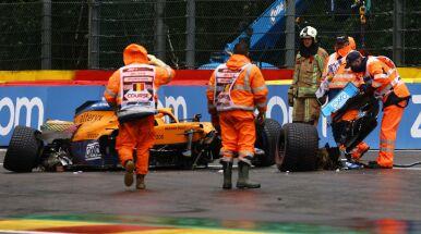 Fatalne warunki i roztrzaskany bolid. Kierowca Formuły 1 trafił z toru do szpitala