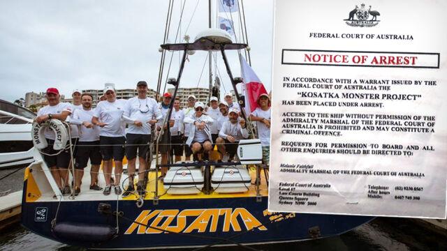 Polska załoga wycofana z Sydney-Hobart. Jacht zajęty przez Sąd Federalny Australii